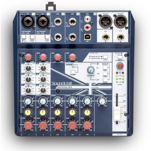 Soundcraft Notepad-8FX Small-format Analog Mixing Console USB